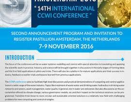 Nro 8 kilpailuun Design a conference brochure / flyer / folder käyttäjältä sdinfoways