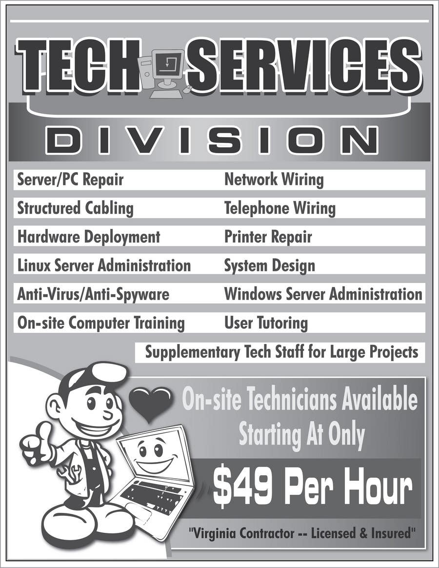 Contest Entry #                                        29                                      for                                         Flyer Design for Tech Services Division