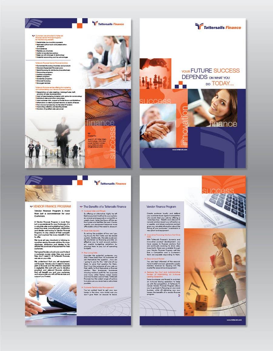 entry 23 by ollive for brochure design for finance hq freelancer