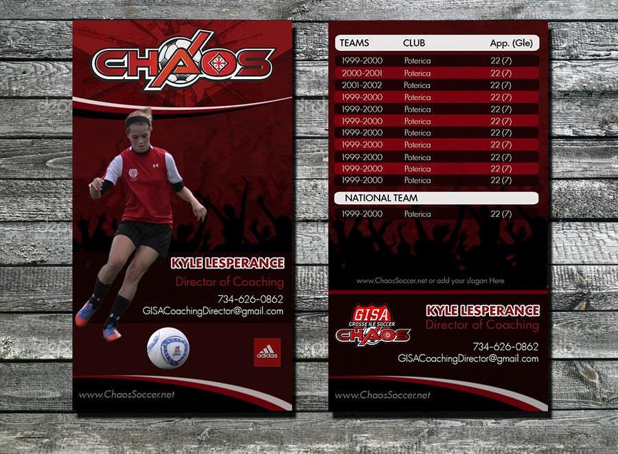Proposition n°9 du concours (6) Business Card Designs needed for Youth Soccer Team