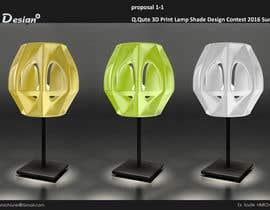 Nro 137 kilpailuun Q.Qute 3D Print Lamp Shade Design Contest 2016 Summer käyttäjältä hmichane