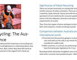 ammadcheema719 tarafından Writing 'news' articles about Metal Recycling in Australia için no 12