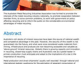 gurjeetsingh344 tarafından Writing 'news' articles about Metal Recycling in Australia için no 10
