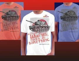 #18 untuk Design a cool T-Shirt with Tank Men and a slogan underneath oleh artist4