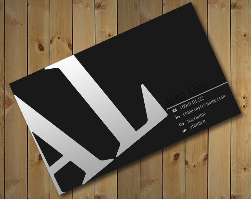 Bài tham dự cuộc thi #14 cho Business Card Design for Alan Lien