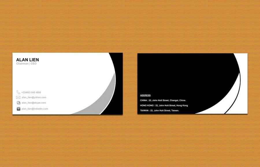 Inscrição nº                                         10                                      do Concurso para                                         Business Card Design for Alan Lien