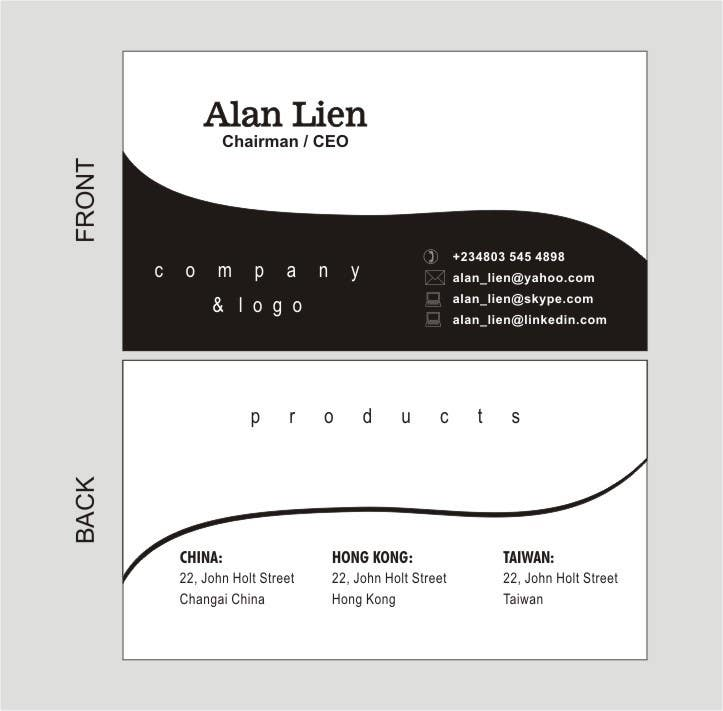 Contest Entry #8 for Business Card Design for Alan Lien