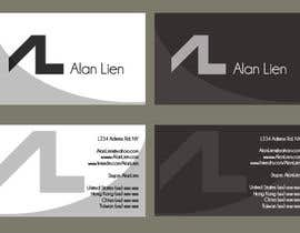 #17 para Business Card Design for Alan Lien por EnerGGFX