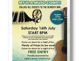Nro 9 kilpailuun Music Competition Poster käyttäjältä dhiren20