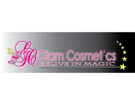 #58 untuk Logo Design for Glam Cosmetics Tagline Believe in Magic oleh dezignbox