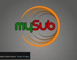 Nambari 26 ya Logo Design for mySub na maveric1