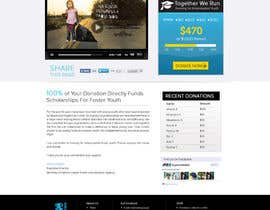 nº 26 pour Design a Website template for fundraising page par atularora