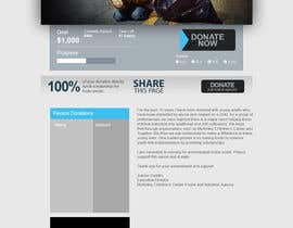nº 2 pour Design a Website template for fundraising page par GHOSTLABX