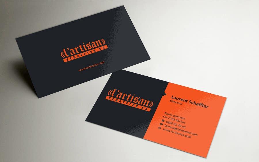 Design some Business Cards for my company, color Orange/Black ...