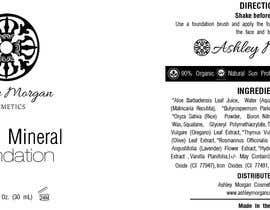 Nro 22 kilpailuun Create a Cosmetic Label for my Liquid Mineral Foundation käyttäjältä sateshcharan