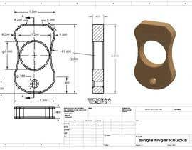 Nro 3 kilpailuun Simple 3d design and modeling - DXF Extrusion or STL FILE - Single Finger Knuck käyttäjältä Acaluvneca