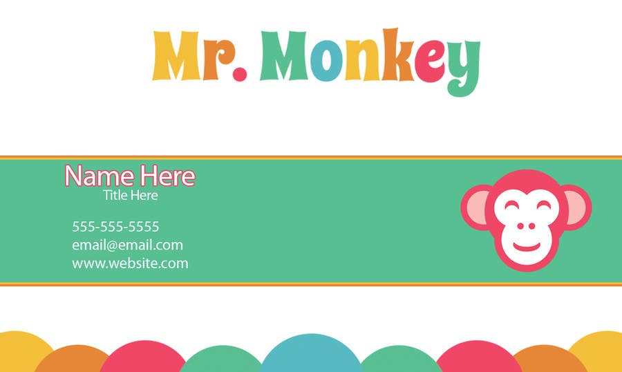 Entry #1 by TAGFX for Design Business Cards for Mr. Monkey | Freelancer