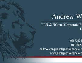 #10 for Design some Business Cards for Lion Liquor Licensing Consultants af dalizon