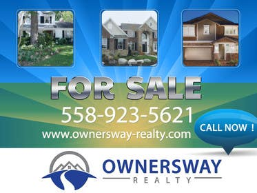 #17 for Ownersway real estate yard sign by AleksandarPers