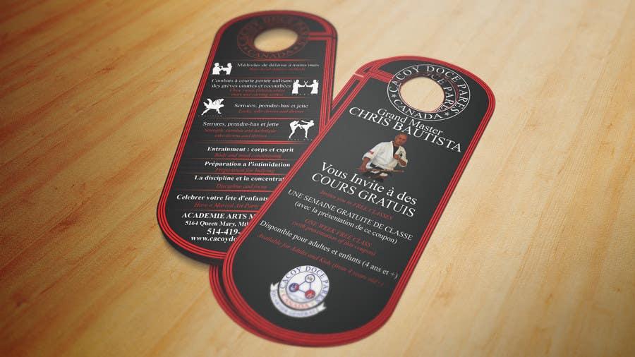 Konkurrenceindlæg #17 for Design a door hanger/brochure for a Filipino Martial Arts dojo in Montreal