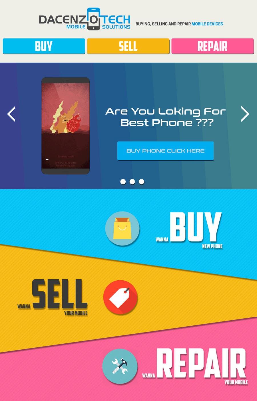 Kilpailutyö #52 kilpailussa Design a Website Mockup for a Mobile Device Company