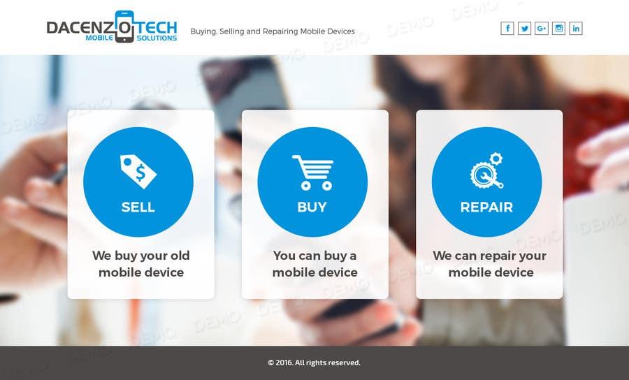 Kilpailutyö #61 kilpailussa Design a Website Mockup for a Mobile Device Company