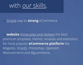 #18 para Write a tag line/slogan for site reviewing ecommerce platforms por GhitaB