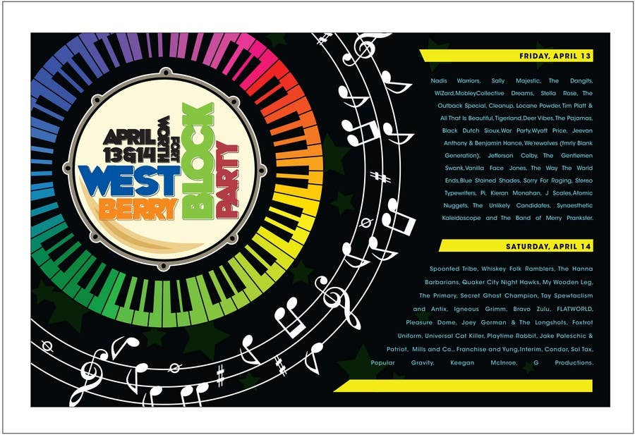 Proposition n°                                        30                                      du concours                                         Poster Design for 2 Day Music Festival