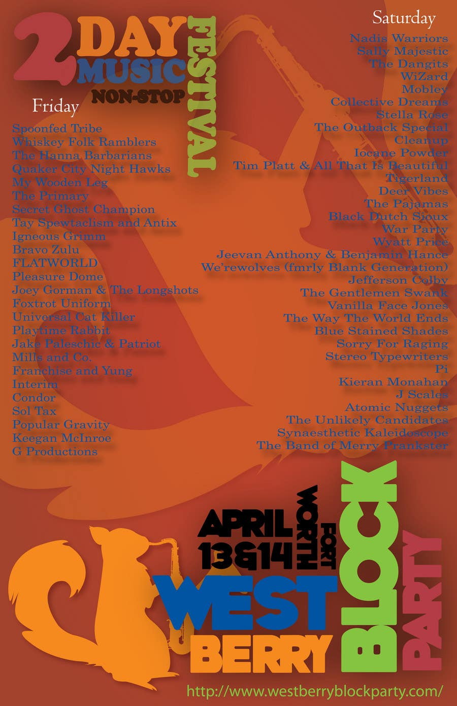 Proposition n°                                        28                                      du concours                                         Poster Design for 2 Day Music Festival
