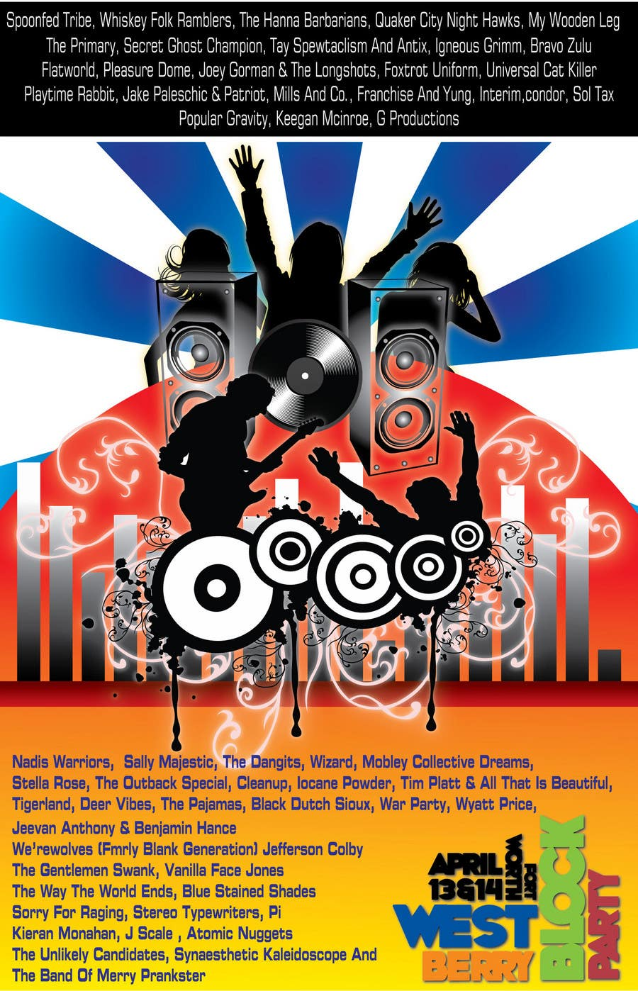 Proposition n°                                        3                                      du concours                                         Poster Design for 2 Day Music Festival