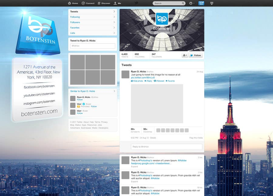 Proposition n°21 du concours Design Twitter Background for NYC Real Estate Firm