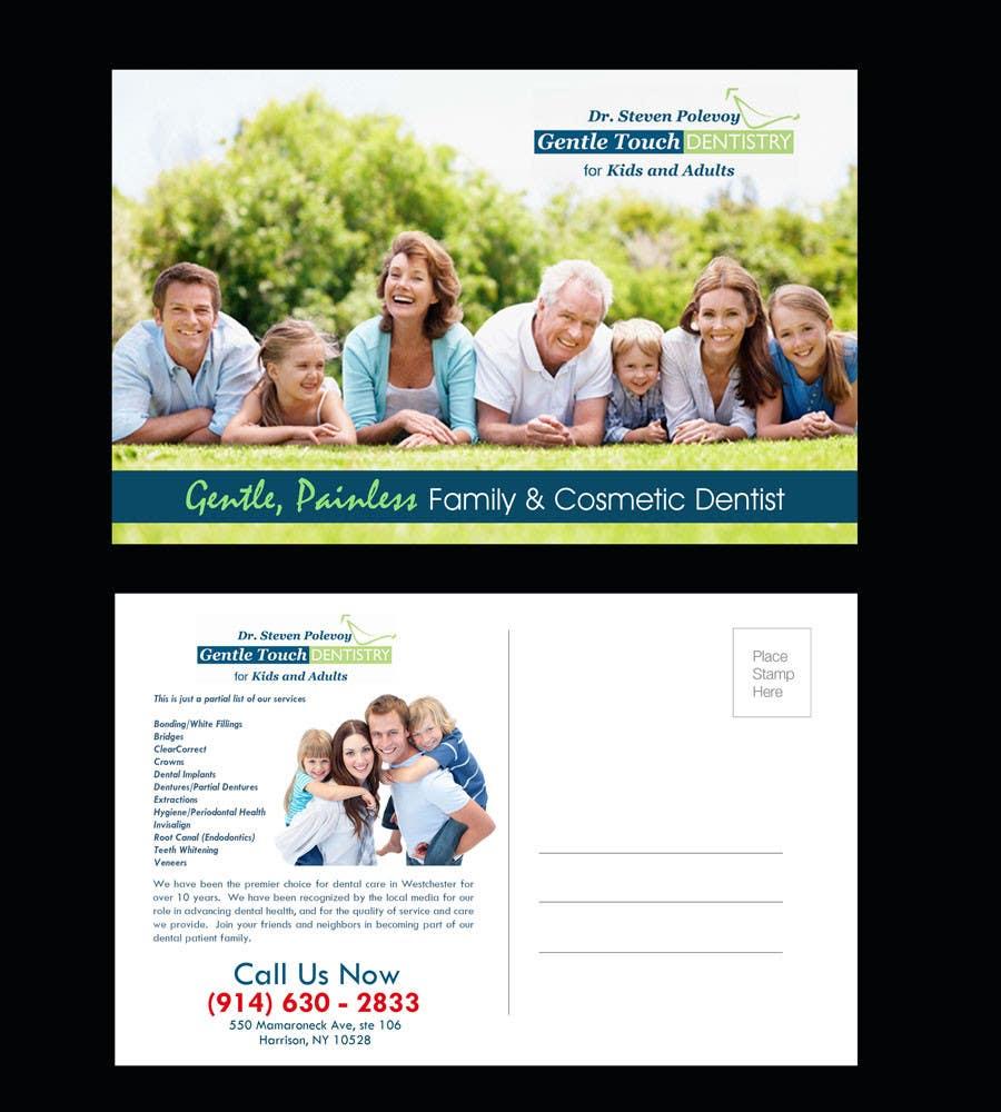 Recall Postcard for dental office için 15 numaralı Yarışma Girdisi