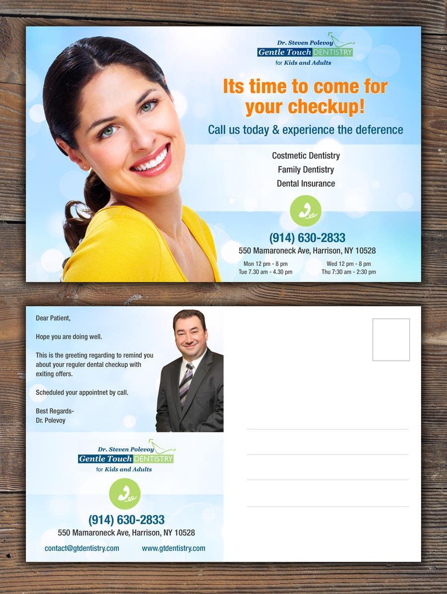 Recall Postcard for dental office için 21 numaralı Yarışma Girdisi