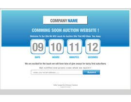 #8 for Design a Coming Soon Landing Page For an Auction Website af zaldslim