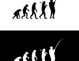 "Carlito36 tarafından Design an ""Evolution of Man"" Fishing T-Shirt için no 2"