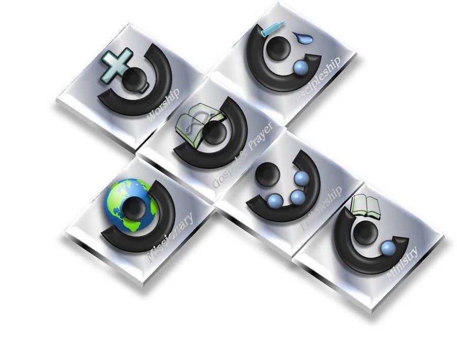 Inscrição nº                                         82                                      do Concurso para                                         Eye-catching graphic logo + 5 clear icons for our church group