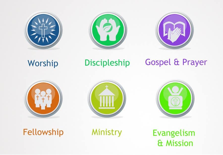 Inscrição nº                                         52                                      do Concurso para                                         Eye-catching graphic logo + 5 clear icons for our church group