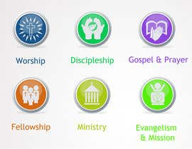 #52 для Eye-catching graphic logo + 5 clear icons for our church group от Anamh