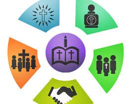 Anamh tarafından Eye-catching graphic logo + 5 clear icons for our church group için no 25