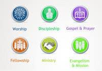 Graphic Design Inscrição do Concurso Nº36 para Eye-catching graphic logo + 5 clear icons for our church group