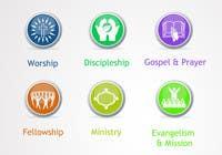 Graphic Design Inscrição do Concurso Nº71 para Eye-catching graphic logo + 5 clear icons for our church group