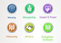Graphic Design Inscrição do Concurso Nº37 para Eye-catching graphic logo + 5 clear icons for our church group