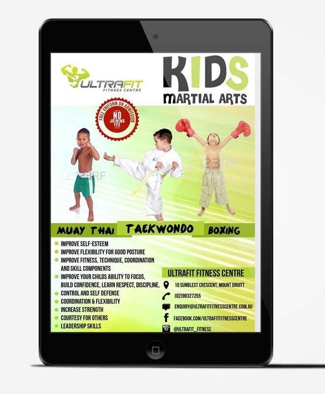 Kilpailutyö #37 kilpailussa Design a Flyer for Kids Martial Arts Classes