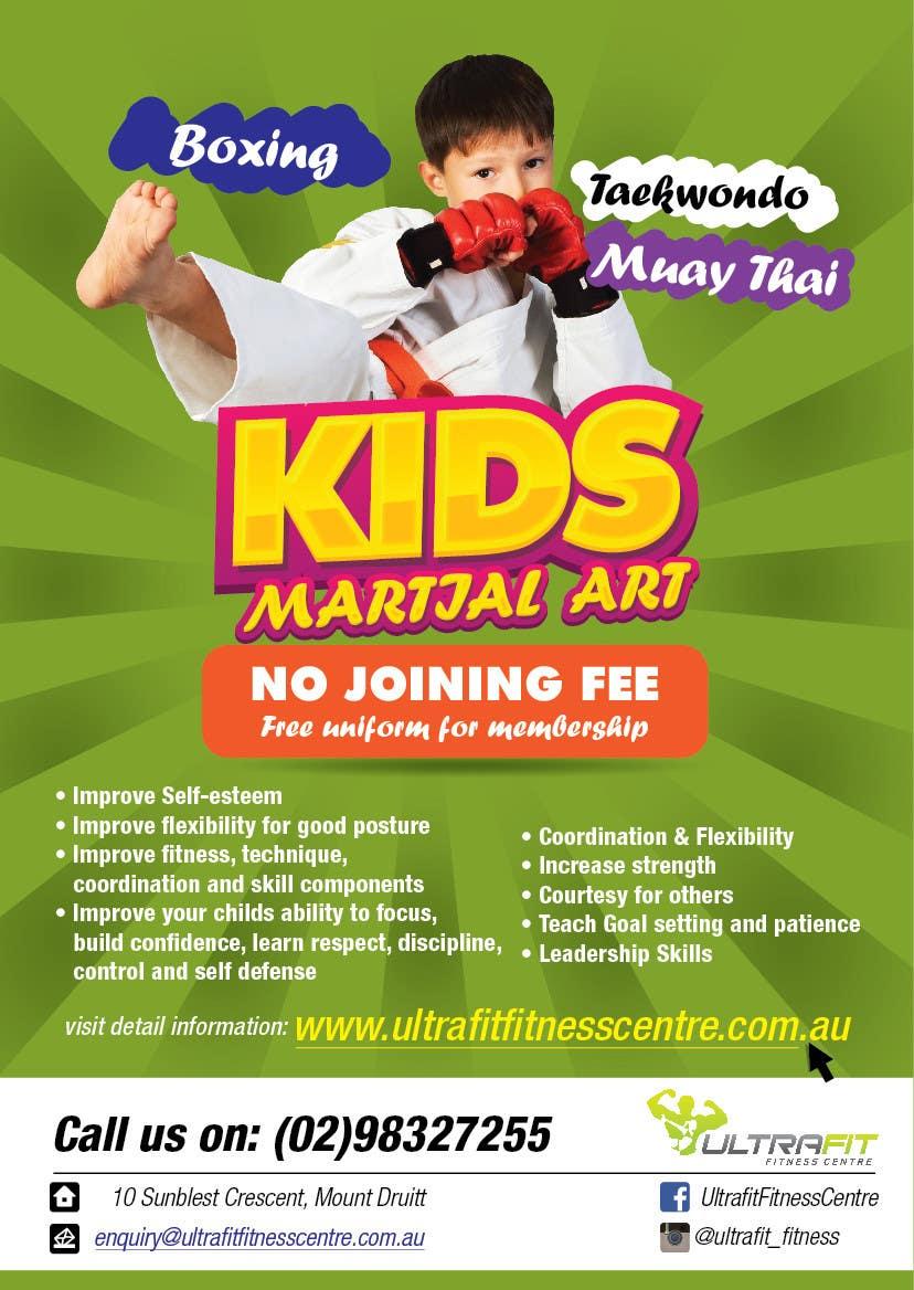Kilpailutyö #33 kilpailussa Design a Flyer for Kids Martial Arts Classes