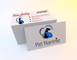 #26 para Design some Business Cards for Pet Nannie por jemes87