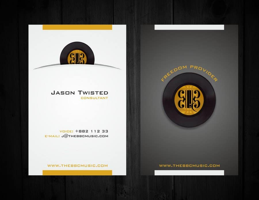 Contest Entry #102 for Business Card Design for The BBC Music