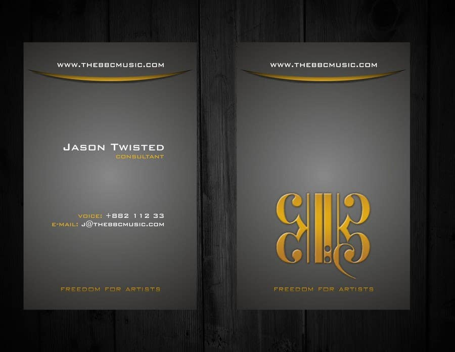 Konkurrenceindlæg #                                        59                                      for                                         Business Card Design for The BBC Music
