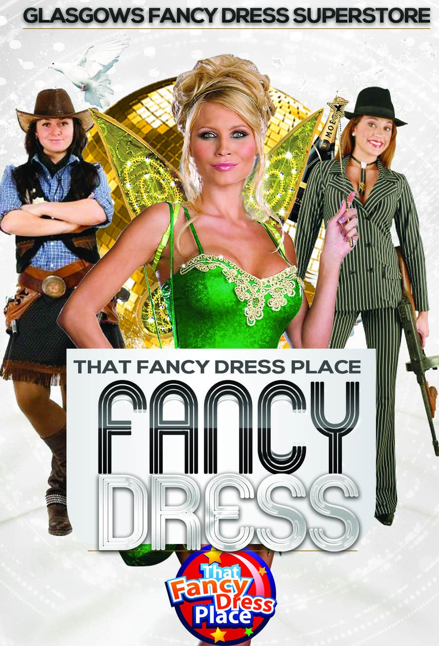 Proposition n°18 du concours Design a Flyer for Fancy Dress Business