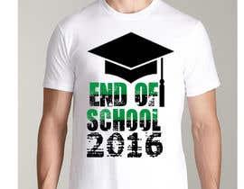 Nro 23 kilpailuun T-shirt design for end of year school käyttäjältä jojohf
