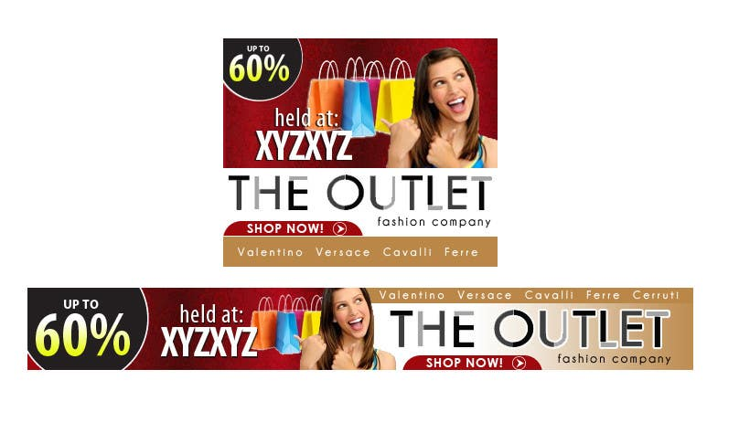 Конкурсная заявка №77 для Banner Ad Design for The Outlet Fashion Company